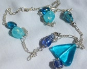 Bright Turquoise Pendant Necklace