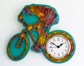 Cycling Wall Clock Desert Sun Multicolor