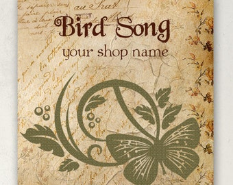 ETSY SHOP BANNERS Bird Song Etsy Shop Banner Set