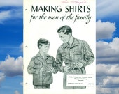 Vintage Making Shirts for the Men of the Family Sewing Book 1950s
