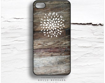 iPhone 6S Case, iPhone 5C Case Wood Print, iPhone 5s Case Floral, Rubber iPhone 6 Case, Rustic iPhone 4s Case, Wood iPhone 6S Plus Cover T70