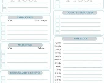 Etsy Seller Organizer: Daily Planner - 1 Printable IMMEDIATE DIGITAL DOWNLOAD
