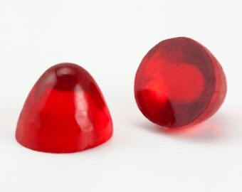 144  9mm Red Glass High Dome Cabochons, Ruby Red Unfoiled Round Bullet Cab, Vintage Czech Bulk Wholesale Discontinued Closeout
