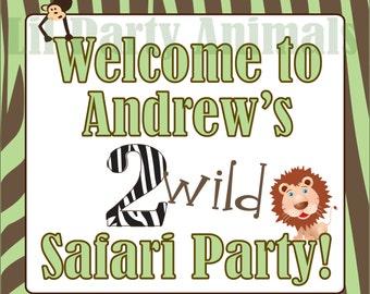 DIY Printable Safari Party Welcome Sign