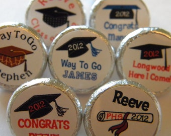 Graduation Favors - Graduation Hershey Kisses - Graduation Party Favors - Graduation Hershey Kiss stickers - Graduation Party Supplies