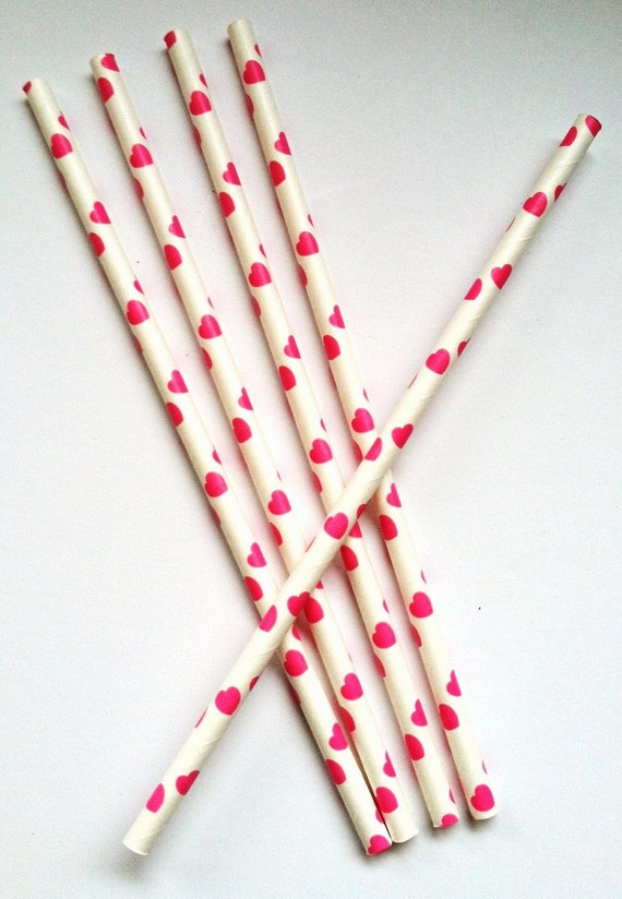 heart on a paper straw pink valentines paper straws 25 with diy straw 6703