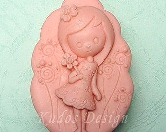 TP029 Sunny Girl Soap Mold, soap mold, silicone soap mold (Kudos Design, Kudosoap) Taiwan