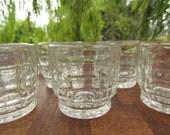 Pressed Glass 'Jacobean' Liqueur or Shot Glasses