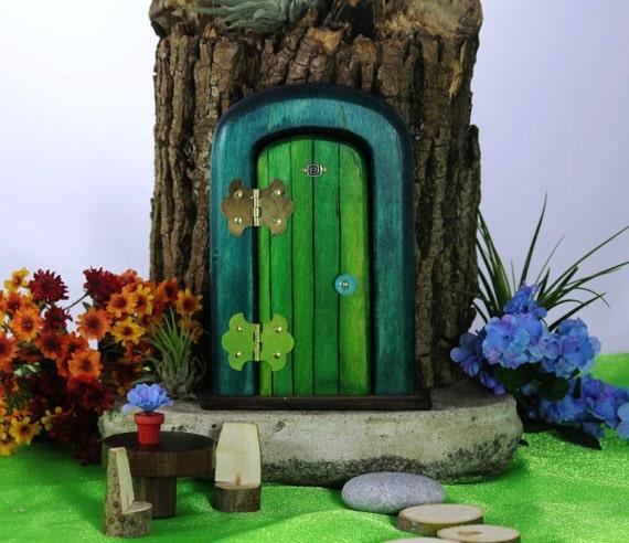 Jewel's Fairy Door - Whimsical wood door by Fairy Hill Woodworks