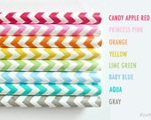 30 Chevron Paper Straws w/ DIY Flags pdf (USA) Birthday, Wedding, Baby Gender Reveal Party Decoration