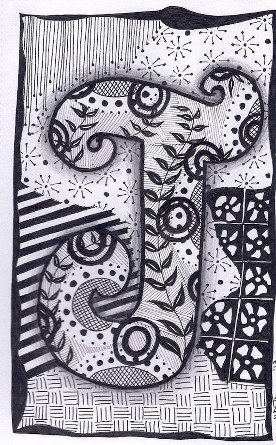 Zentangle Letters B