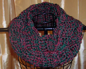 Burgandy Hunter Green Infinity Scarf