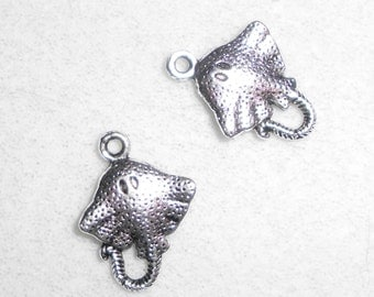 Silver Sting Ray  Charm