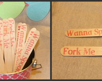 20 Fork Me / Wanna Spoons wooden cutlery