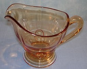 Moondrops Amber Depression Glass Creamer