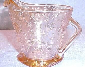 Floragold Iridized 40s 50s 60s Glass Creamer