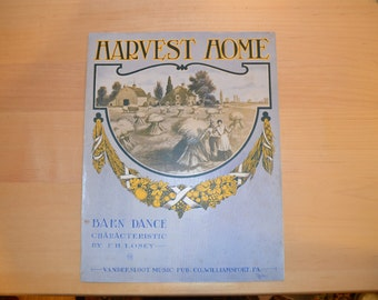 Sheet Music  Harvest Home by F. H. Losey Piano Piece