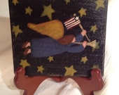 Primitive  Americana Angel Mini Plaque