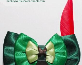 Mini Peter Pan Hair Bow
