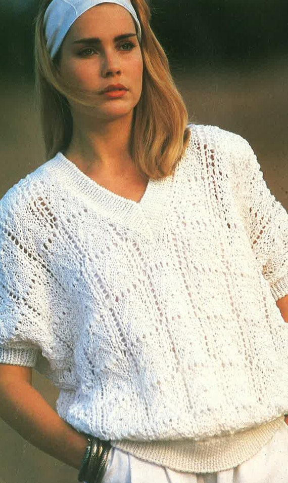 Knitting Patterns For Ladies Jumpers : Ladies Jumper Knitting Pattern PDF No. 0512 From TimelessOne