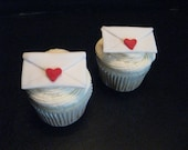 Love Letter Cupcake Toppers