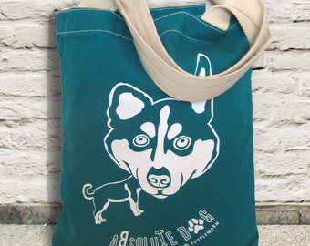 Husky Tote Bag, Sturdy 12 oz 100% Canvas Tote
