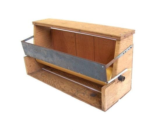 vintage paper cutter hanger paper roll dispenser by stonesoupology. Black Bedroom Furniture Sets. Home Design Ideas
