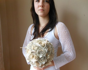 Knitted  Shrug Bolero Summer Shrug Lace White Cotton Choose Color