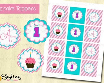 Cupcake Sweet Shop Cupcake Toppers and Free Wrappers