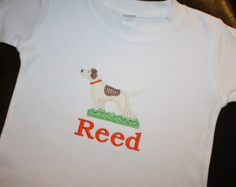 Personalized Shirt with Pointer Dog Applique