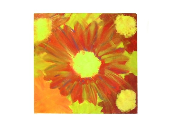 Vivid Flower Picture, Home Decor, Kitchen Decor, Wall Hanging, Canvas Painting