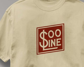 Soo Line Railway T Shirt Vintage Logo Railroad Train Tee Shirt Mens Womens Ladies Youth Kids