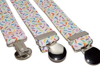 Suspenders - Colorful Sprinkles Adjustable Suspenders