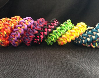 Customizable Paracord Survival Bracelet in the Piranha Weave (your choice of 2 colors)