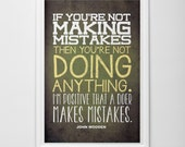 """Typography Poster wall decor - John Wooden inspirational quote Print 12""""x18"""""""