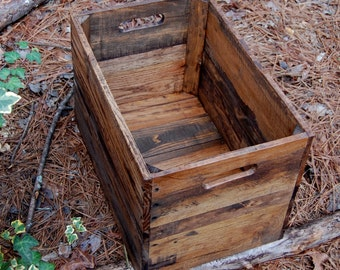 Medium Provincial Wooden Crate from Reclaimed Wood/ Vintage Style Apple Crates /Rustic Crate