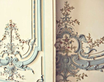 Pastel Marie Antoinette Doors at Versailles, 8x10 Fine Art Photo Print, Ivory, Faded, Pale, Ornate, French Nursery, Gender Neutral Decor