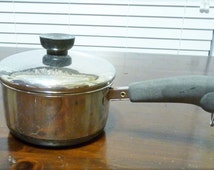 Vintage Stainless Steel Non-Copper Bottom Revereware 2 Qt. Pot with Lid