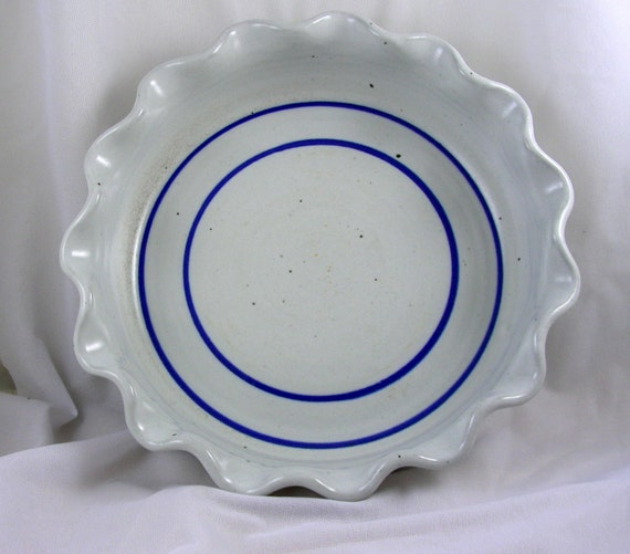 Vintage Pie Plate with Fluted Edge