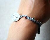 SALE! Crocheted bracelet with Honduran coin