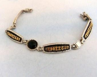 Link Bracelet Gold and Silver Tone Premier Design