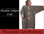 Hooded Orknot Coat - a knee length coat with wonderful details