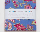 "The Ladies' Stitching Club by Oliver & S for Moda Fabric. 42 5"" squares charm pack. 11190PP"