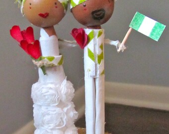 MeltingPotLove Custom Ethnic Wedding Cake Topper