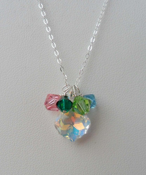 mothers day necklace birthstone necklace