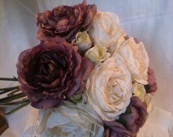 Artificial Vintage Wedding  Flowers Roses Bouquet
