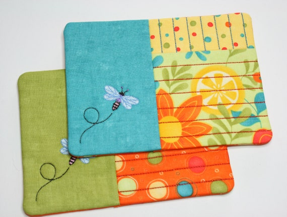 Mug Rug Coaster Candle Mat Embroidered And Quilted