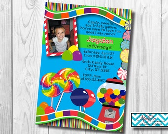 Candy Land Birthday Invitation