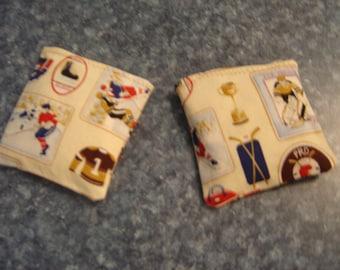 Hockey Patches Print Hand Warmer Corn Cozies