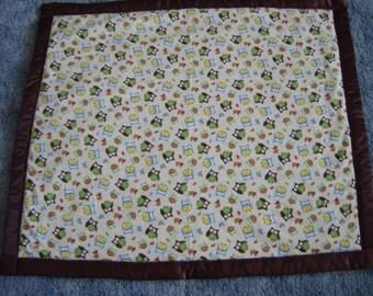 Owl Print Baby Blanket